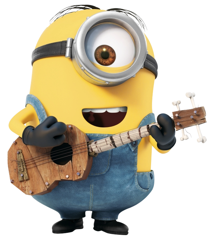 Minion with guitar Png