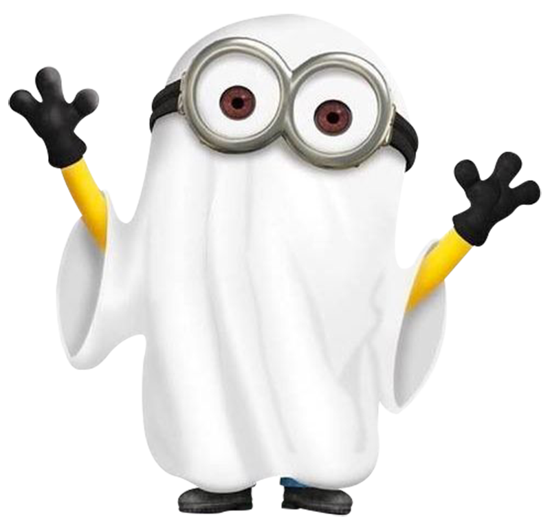 minions ghost minion boo scary png