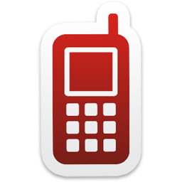 Mobile Phone Icon from Colorful Stickers Part 4 Set 256x256 px