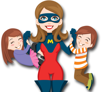 Mom, babys Clipart