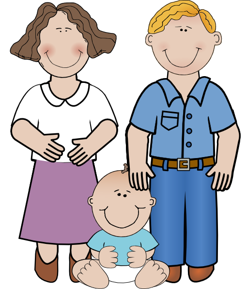 Mom Dad And Baby Clip Art Png image #42632