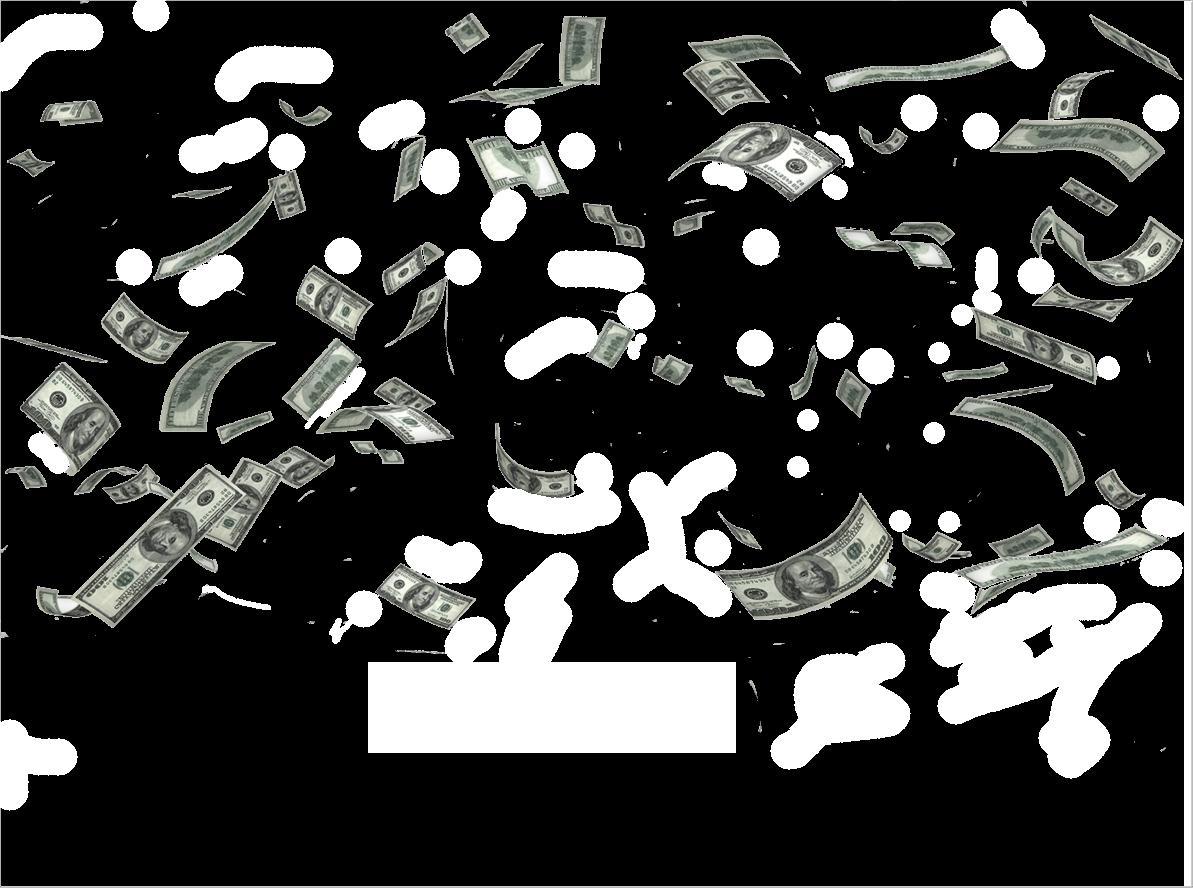 money saving, falling money transparent background