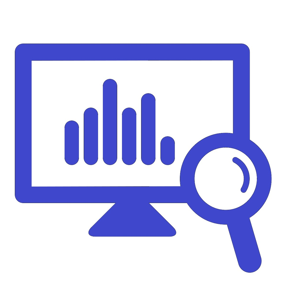 Monitoring, Report, Screen, Statistics Icon image #40159