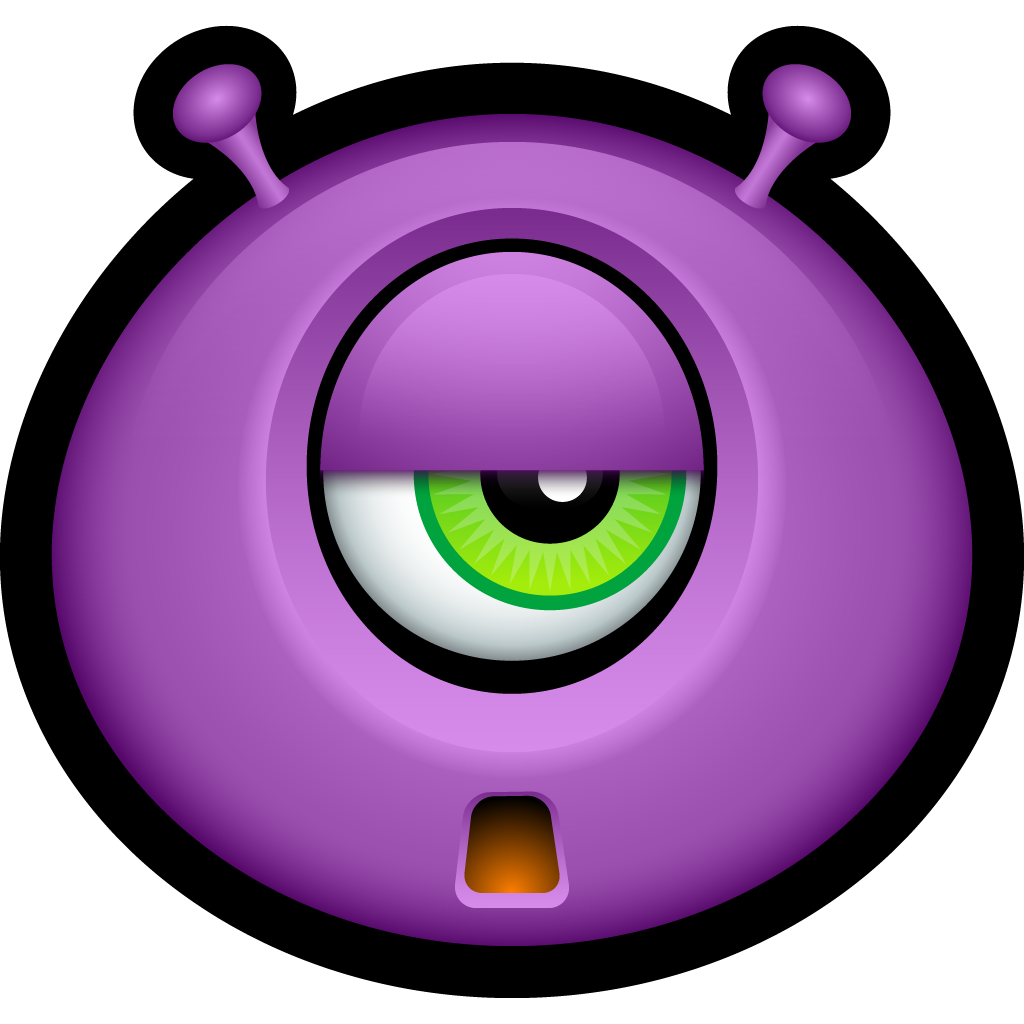 Monster, Monsters, Sad, Smiley, Smiley Face Icon  image #4286