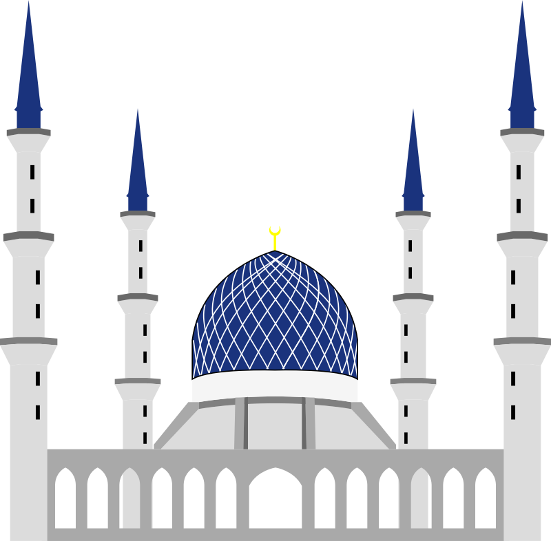 Mosque Blue White image #2932