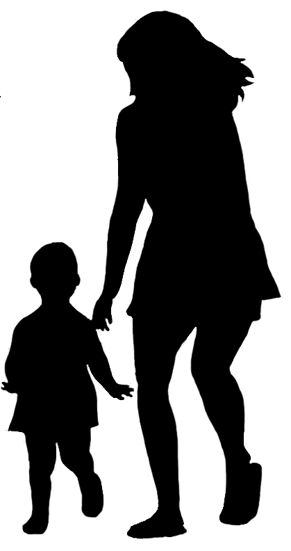 Mother And Child Silhouette Png image #41495
