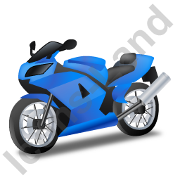 Motorcycle Blue Icon image #2700