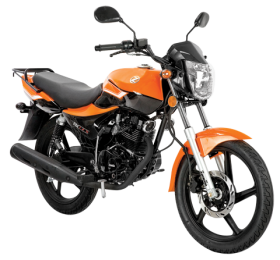 Motorcycle Classic Orange Png image #20340