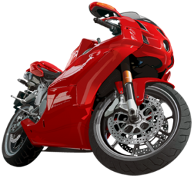 Motorcycle Red Motor Png image #20345