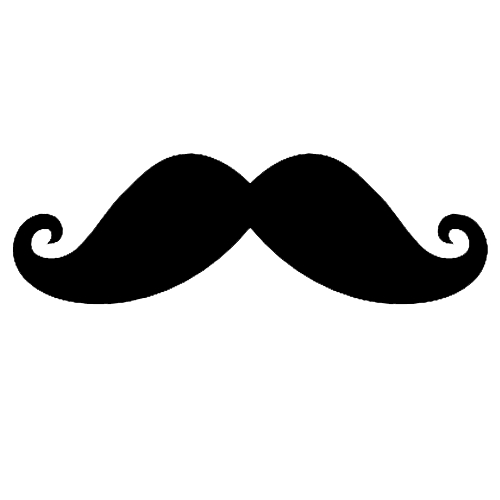 Long curly mustache