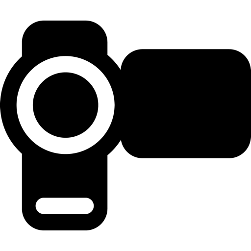 Multimedia camera icon