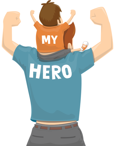 My Hero, Fathers Day Png image #42538