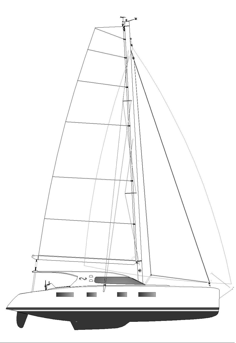 Nautitech Catamaran white png
