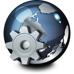 network service icon world