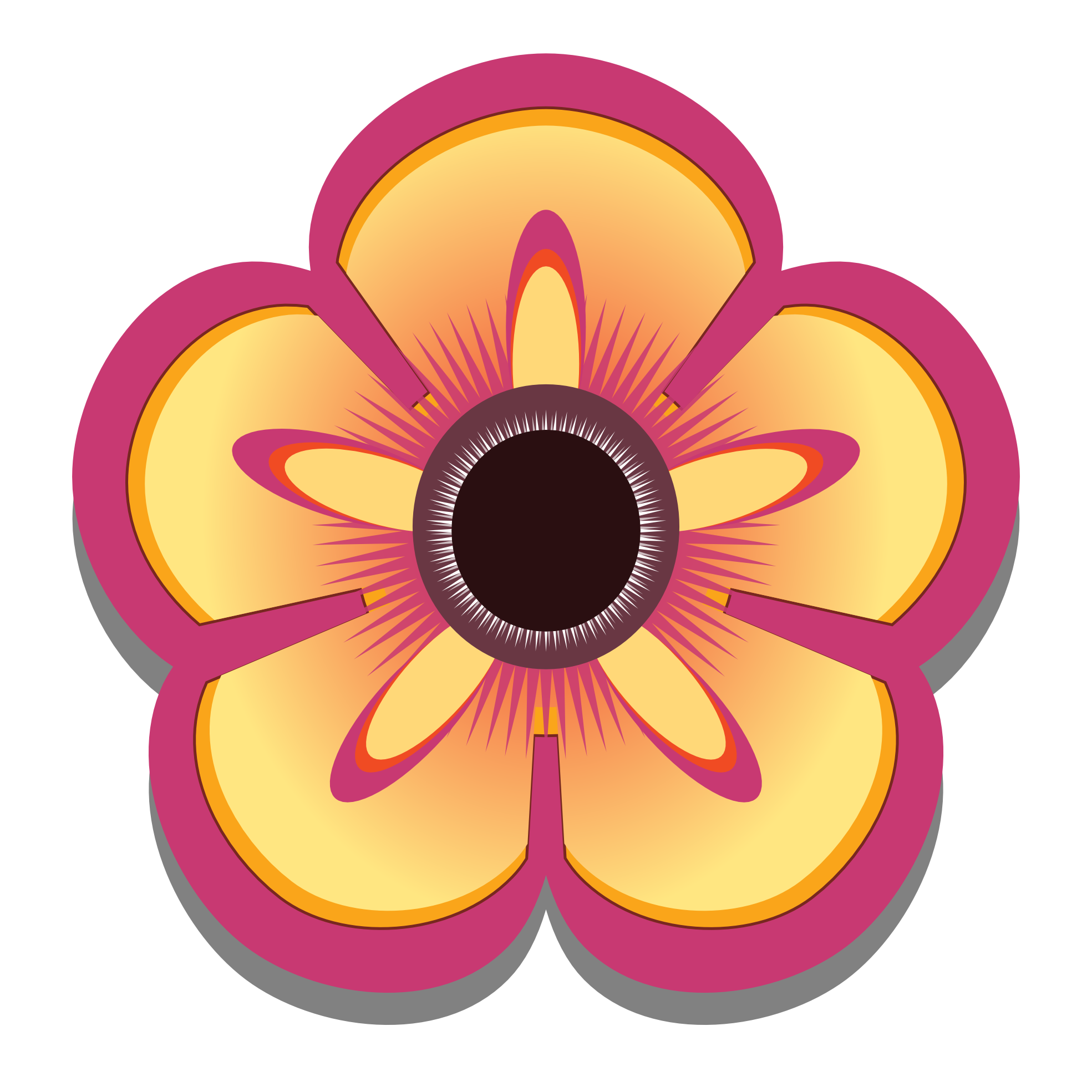 new abstract flower png