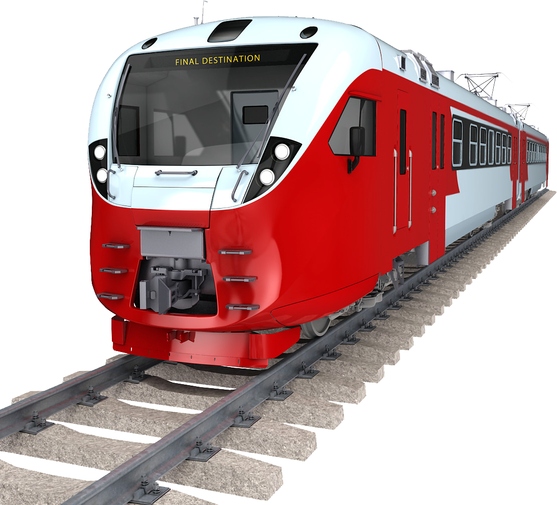 New Red Train Transparent Image