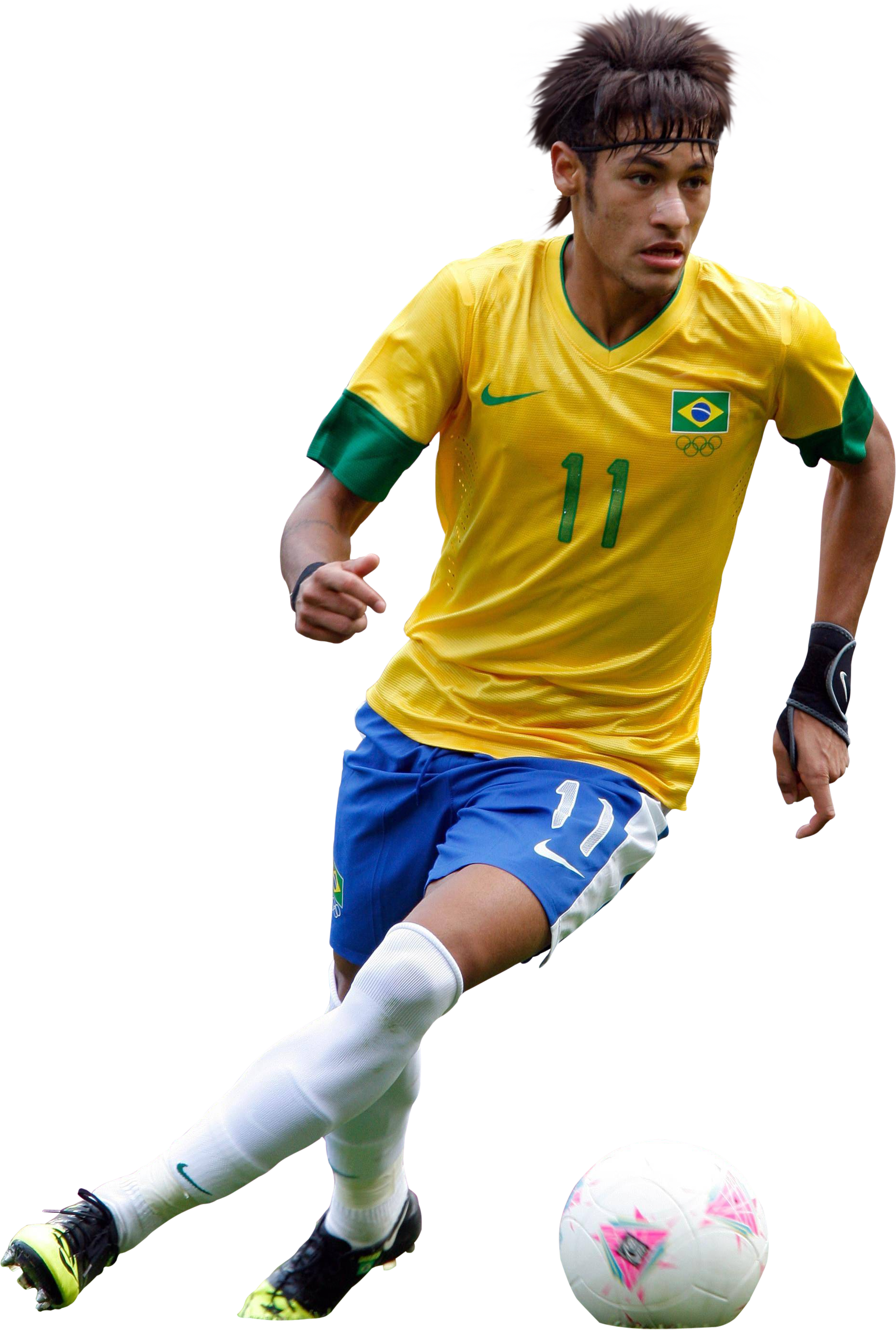 Neymar Athlete Yellow Png image #44973