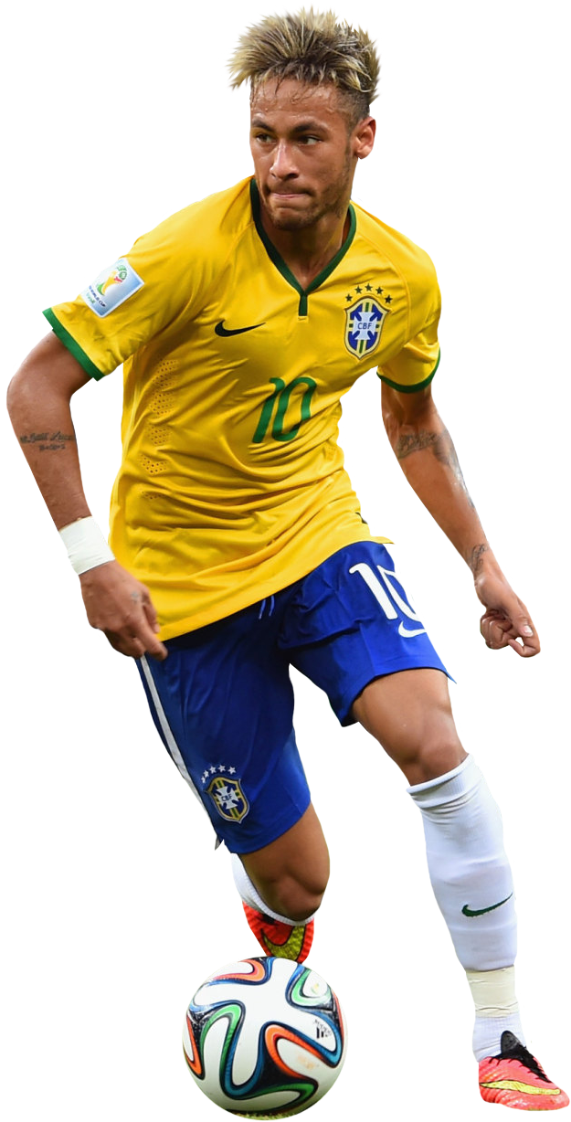 Neymar Football Render Png Transparent image #44969