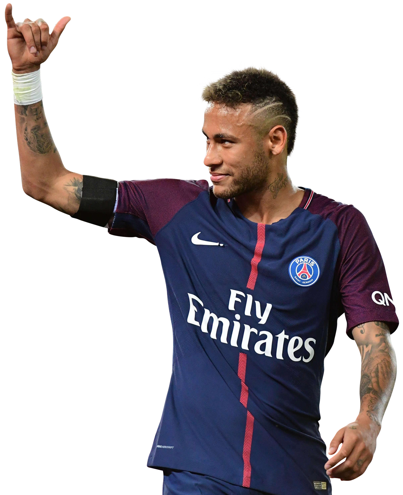 neymar football render transparent