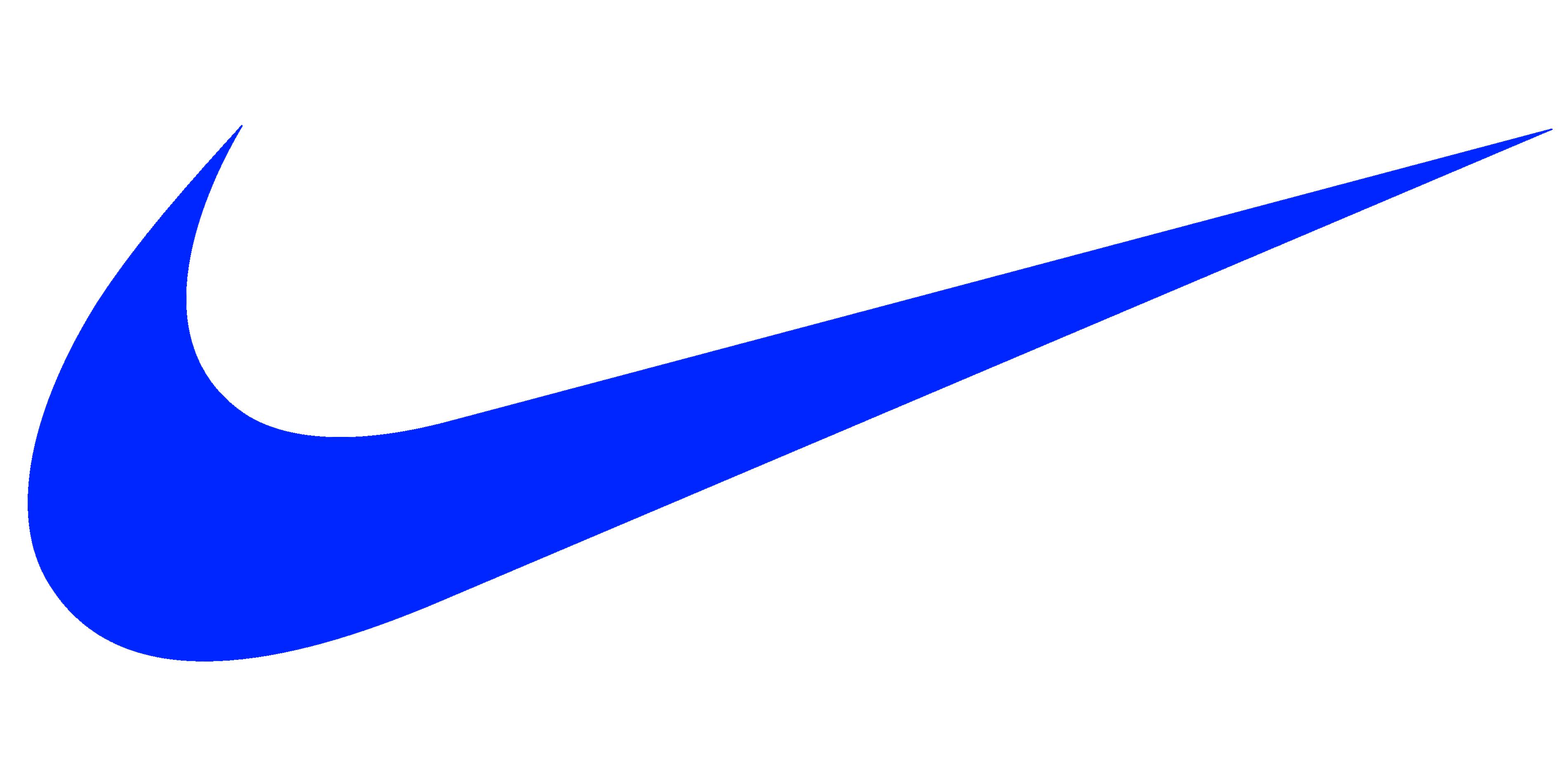 Nike Logo blue Icon Symbol transparent clothing brand