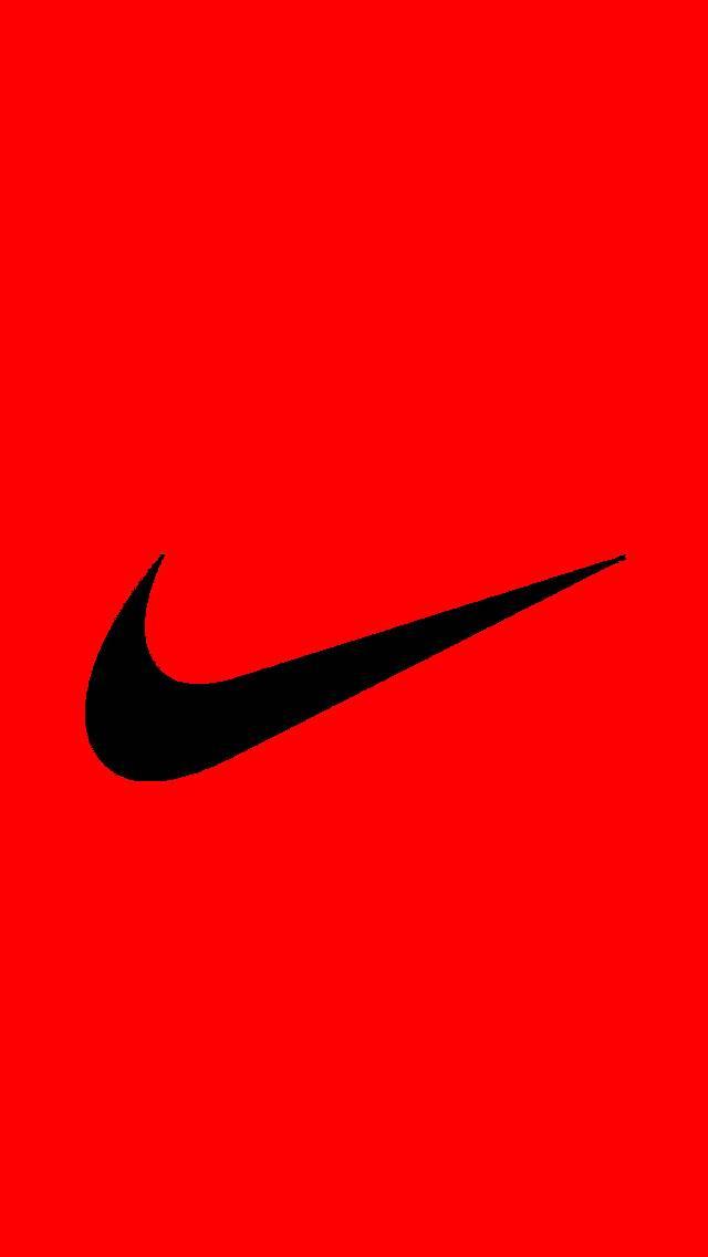 nike red logo wallpaper