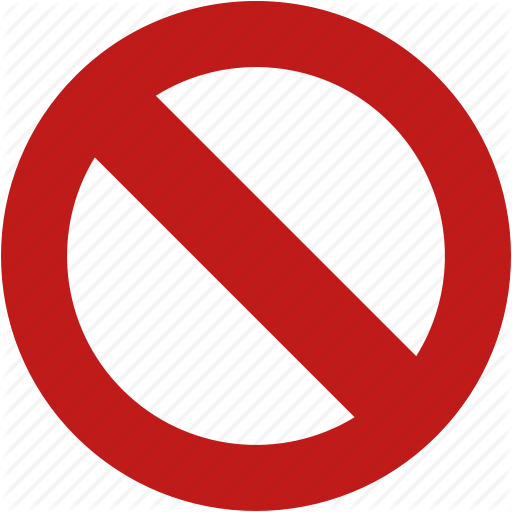 No Entry, Stop, Forbidden Icon image #10070