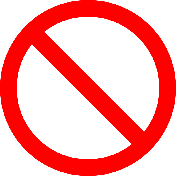 No Sign Icon Png image #20455