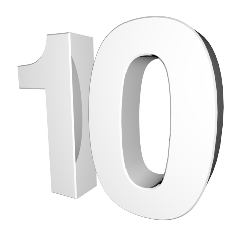 Number 10 Clipart Black And White