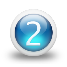Number 2 Blue Icon image #11897