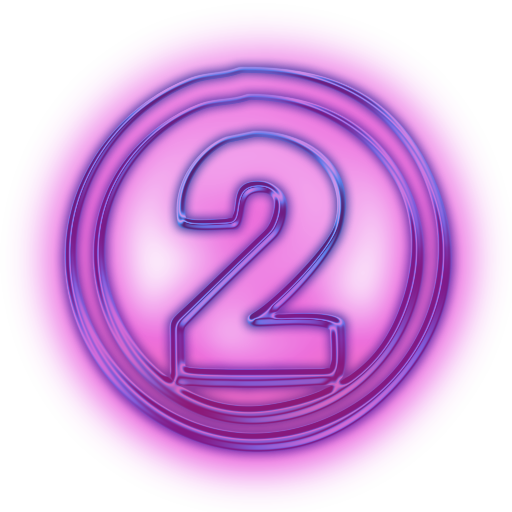 Number 2 Purple Icon image #11900