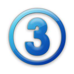 Png Number 3 Icon image #24740