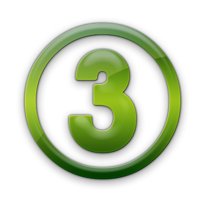 Number 3 Three Icon image #8110