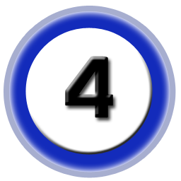 Number 4 Vector Icon image #24775