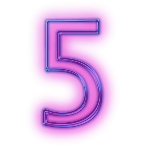 Transparent Number 5 Icon image #24794