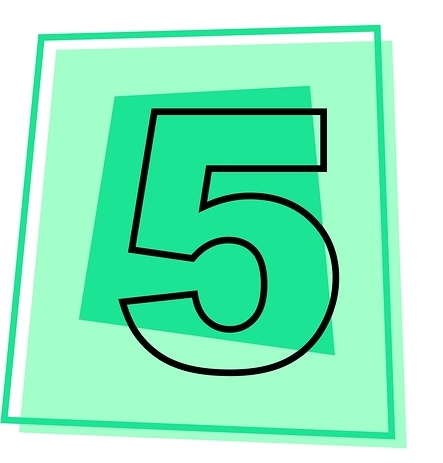 Number 5 Download Vector Free Png