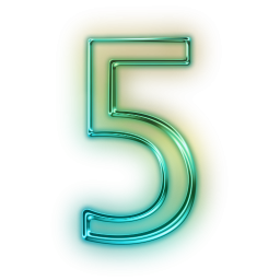 Number 5 Vector Icon image #24787