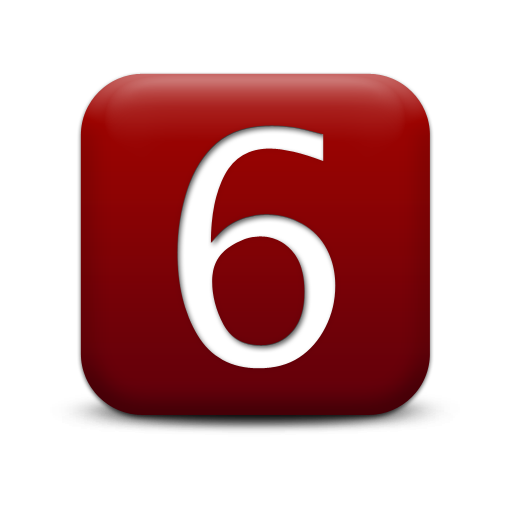 number 6 icon image
