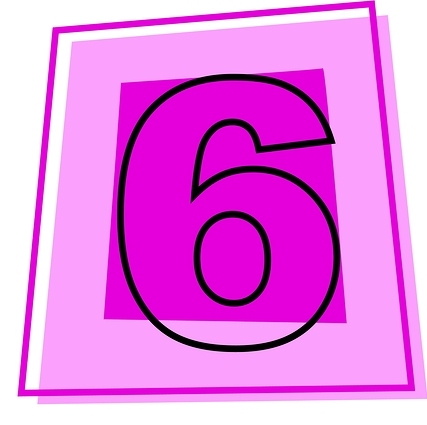 Number 6 Icon Svg image #24832