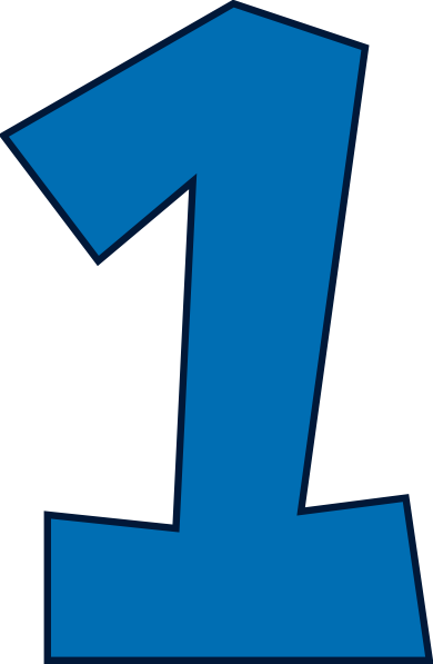 Number One Clip Art Blue