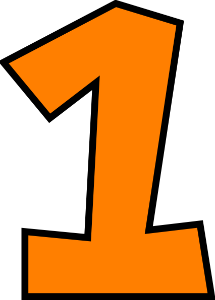 Number One (orange) Png image #44203