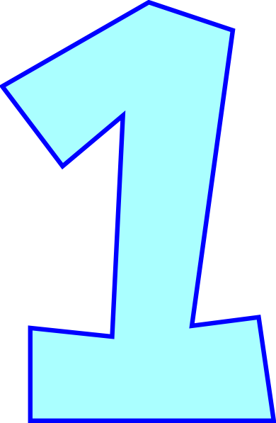 Number One (powder Blue) Png image #44204