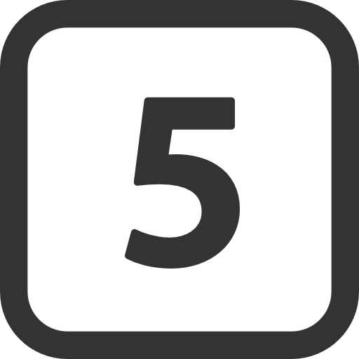 Numbers 5 icon