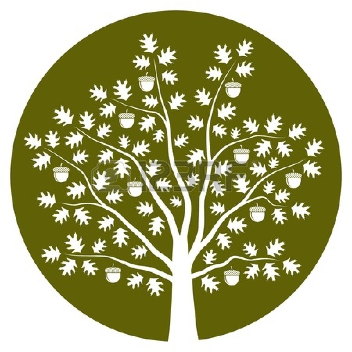 Oak Tree Vector Icon image #16500