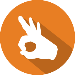 Ok Hand Icon Png image #3097