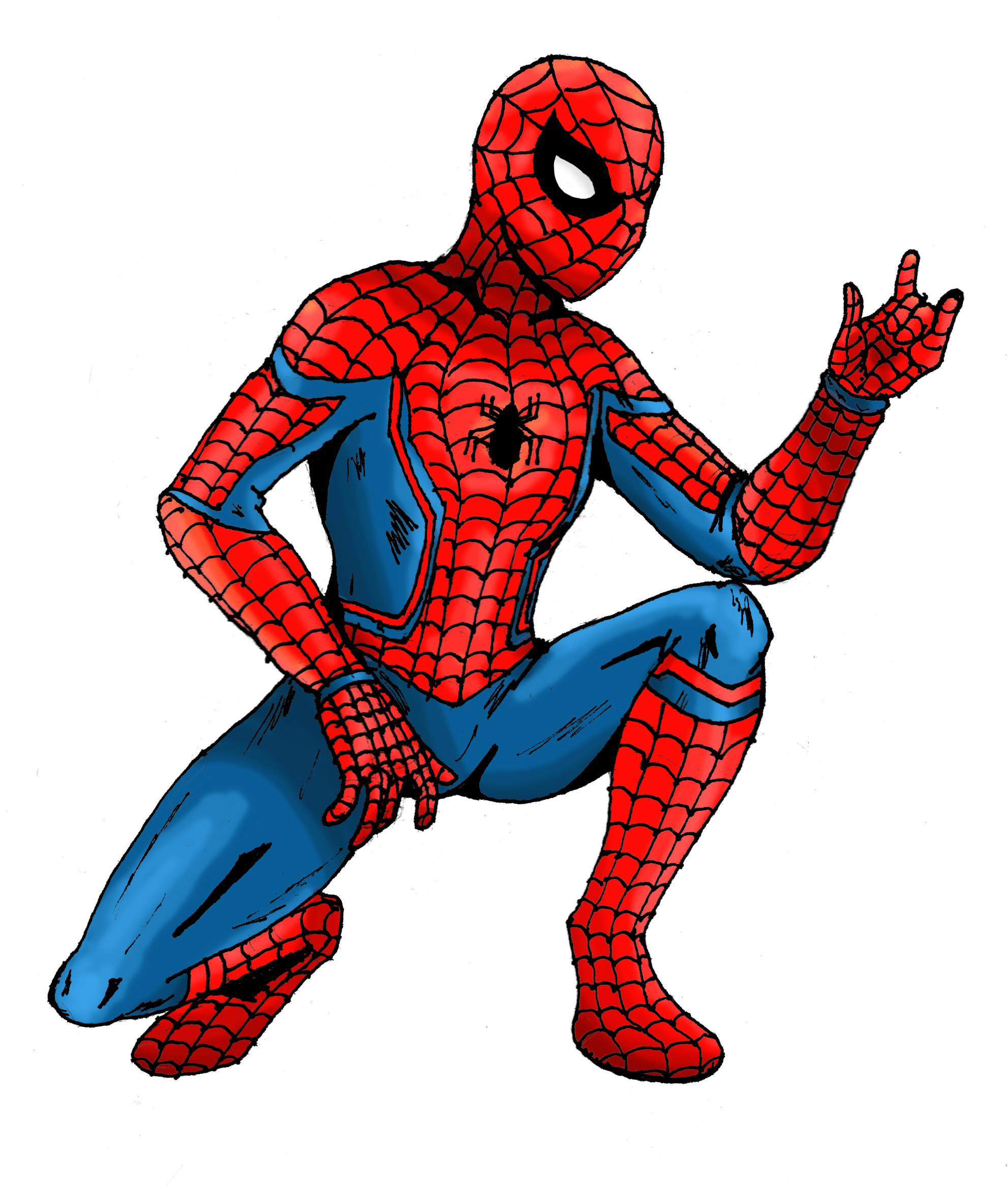 Old Classic Spiderman Costume Png Clipart image #47367