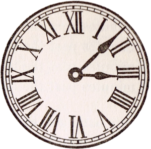 old clock of roman numerals png