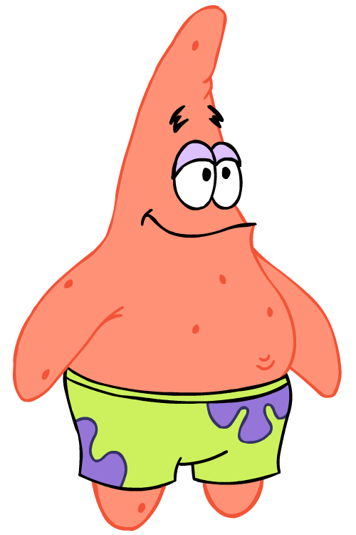 Old Patrick Star Cartoon Characters Spongebob PNG image #44275