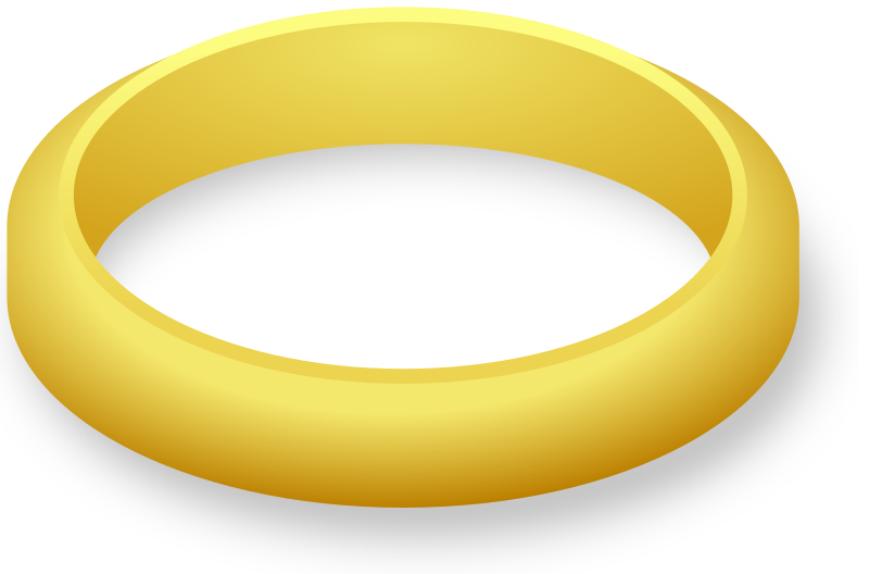 One Wedding Ring Clipart Png image #45289