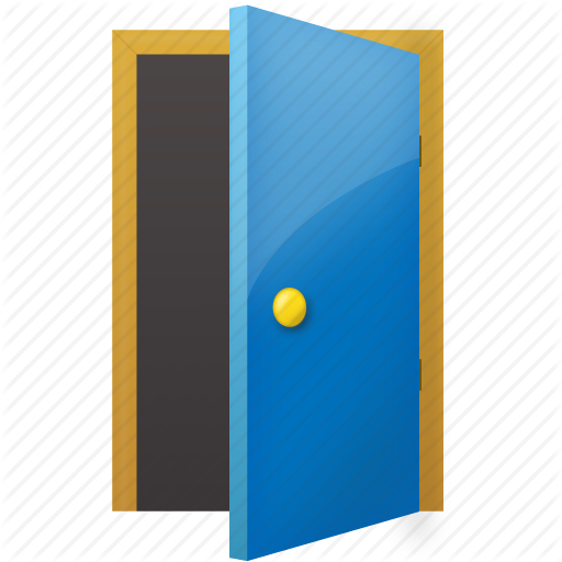 open door, exit icon