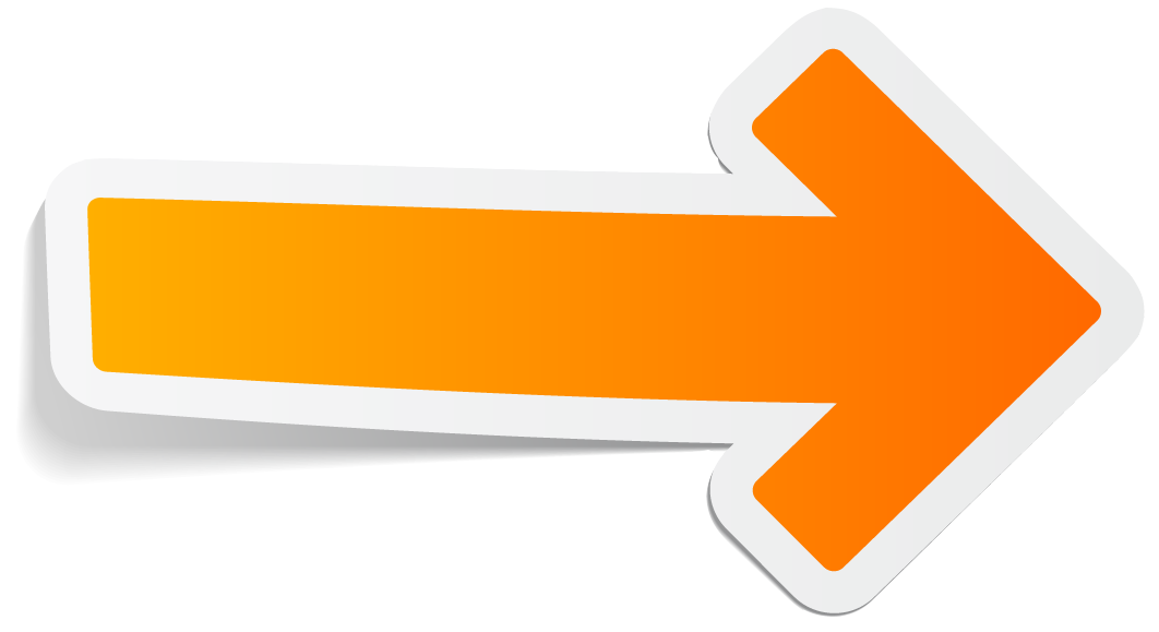 Orange Arrow Png image #12457
